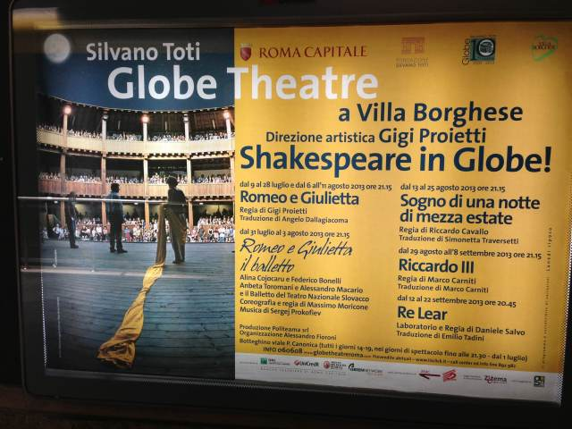 The Globe Theater, Villa Borghese, Rome.